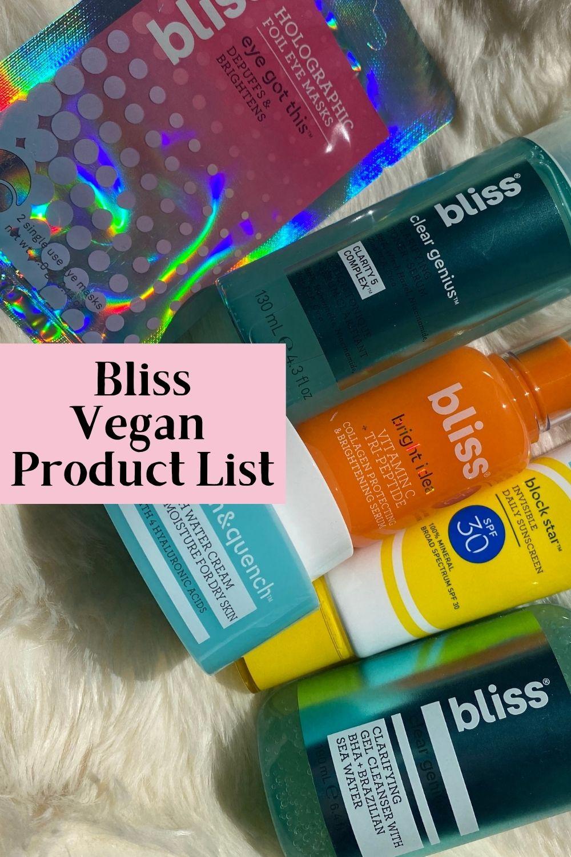 bliss vegan