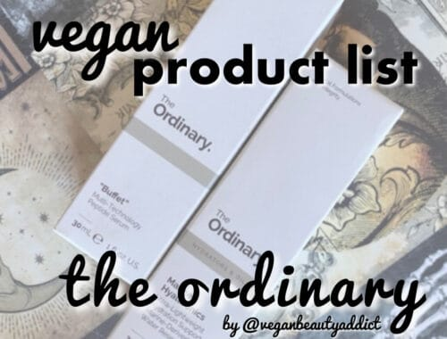 the ordinary vegan
